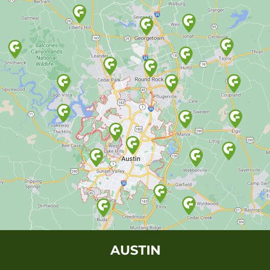 Austin Service Areas